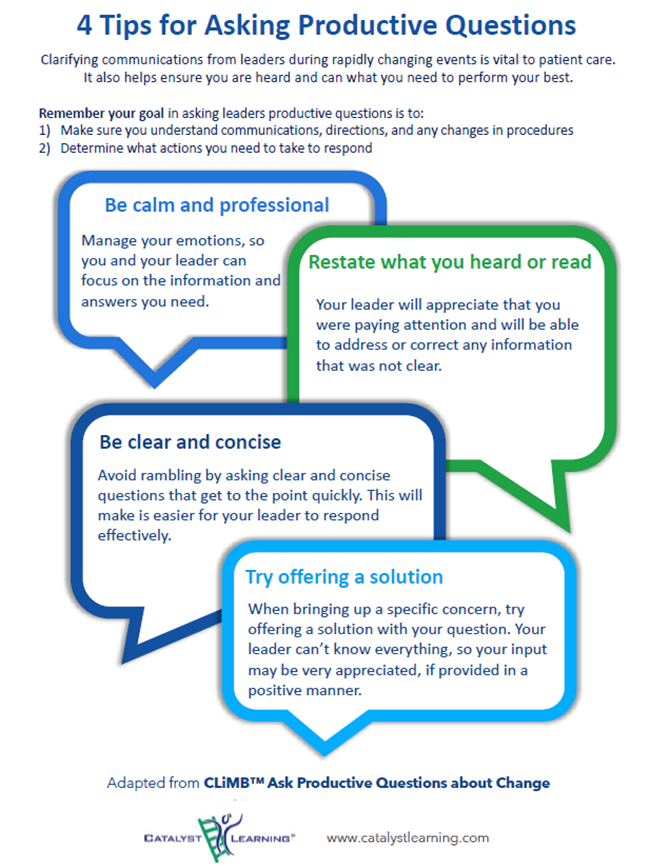 Ask Productive Questions Huddle Guide